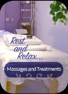 massage and treatments